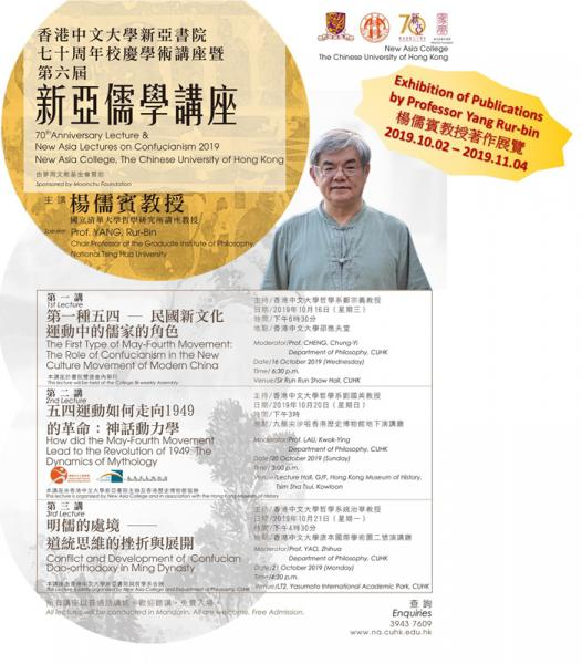 Exhibition of Publications by Professor Yang Rur-bin, Distinguished Scholar of the New Asia Lectures on Confucianism 2019
